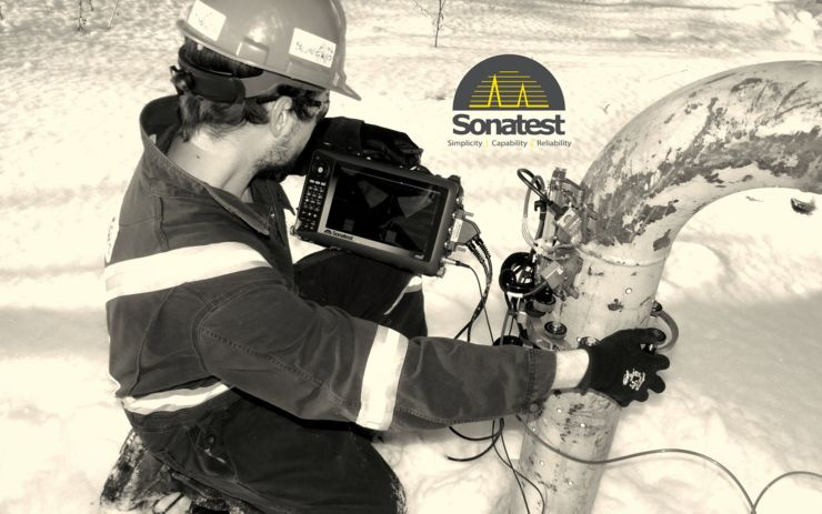 Sonatest veo+ phased array inspection flaw detector weld inspection NDT
